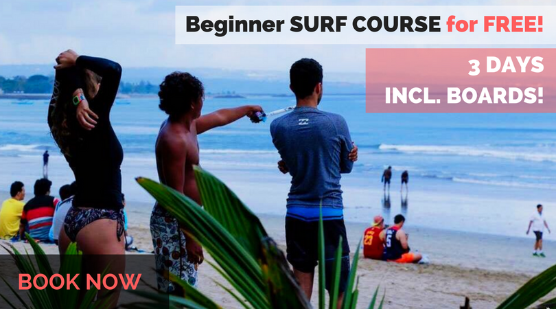 Surf camp Bali surf course for free
