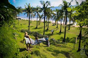 surfwg bali surf camp balangan beach with group
