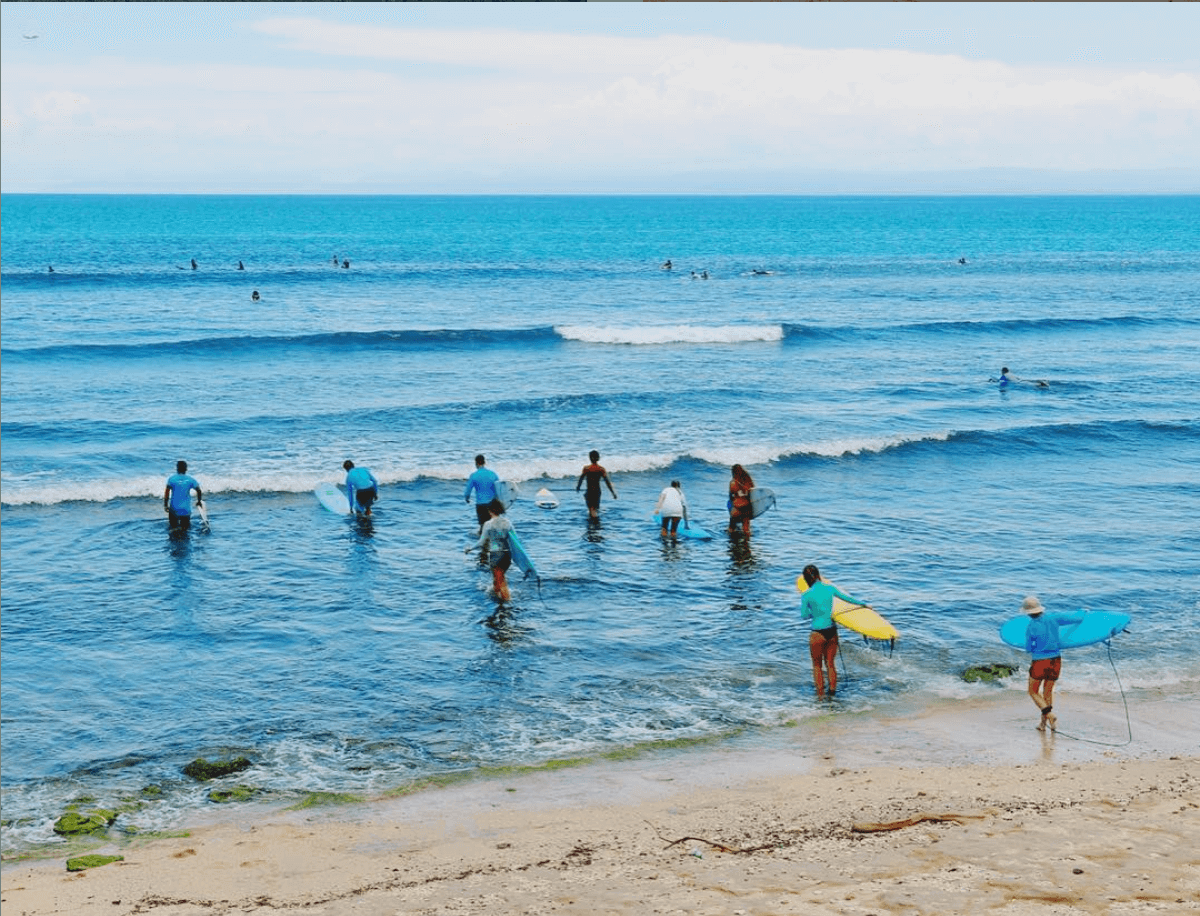 SurfWG surf camp Bali Surfers Lineup Balangan beach