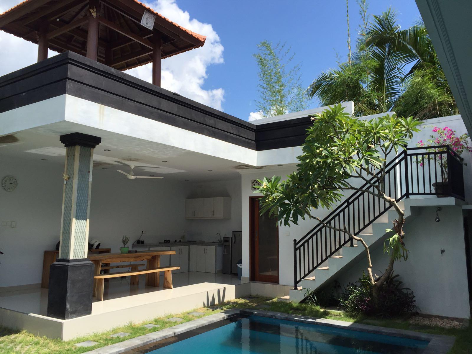 SurfWG Bali surf camp villa tuju accommodation kitchen and rooftop