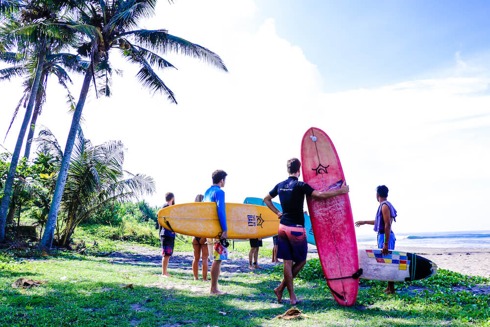Learn to surf with SurfWG beginner surf class in Bali