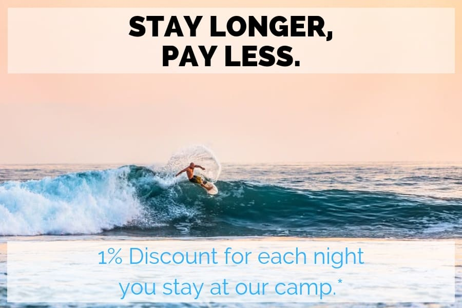 SurfWg surf camp special offer stay longer and pay less