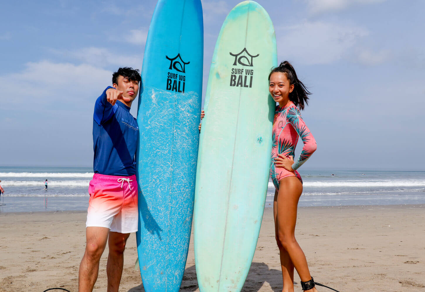 Learn to surf in Bali with uóur beginner class in Bali SurfWG