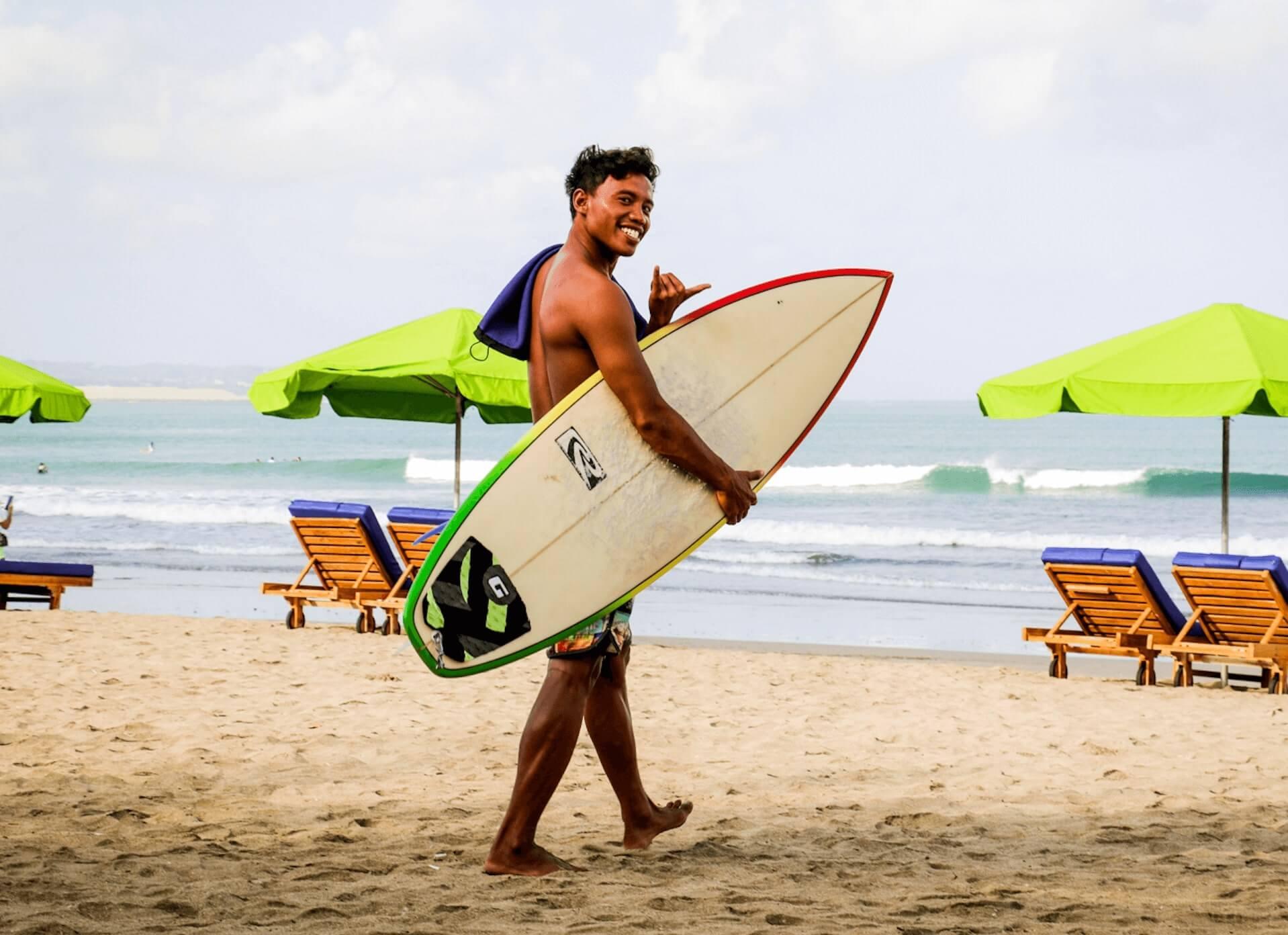 Surf schule Bali Surf guide Ronaldo SurfWG